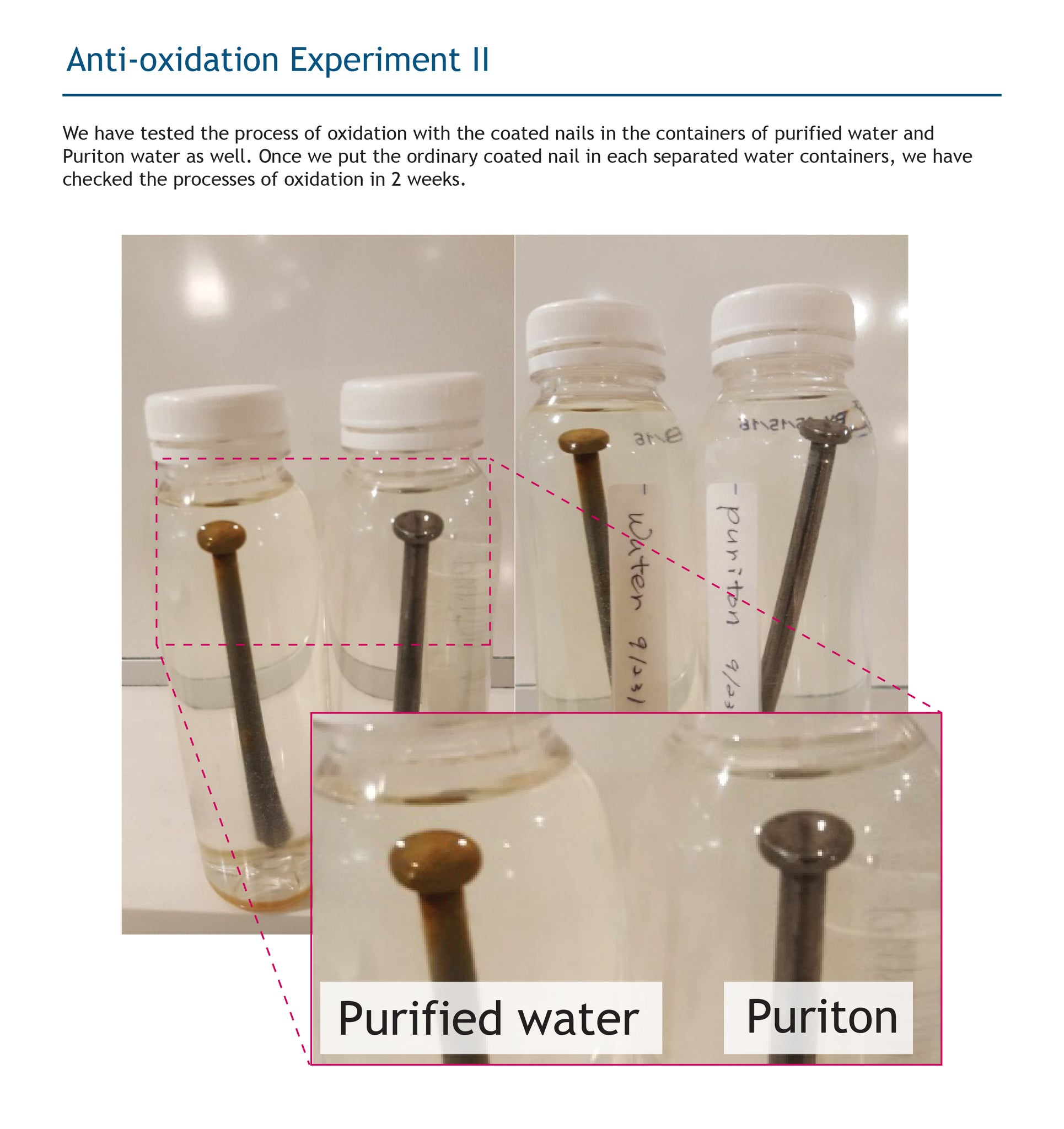 Puriton Mineral Water Anti-oxidation test