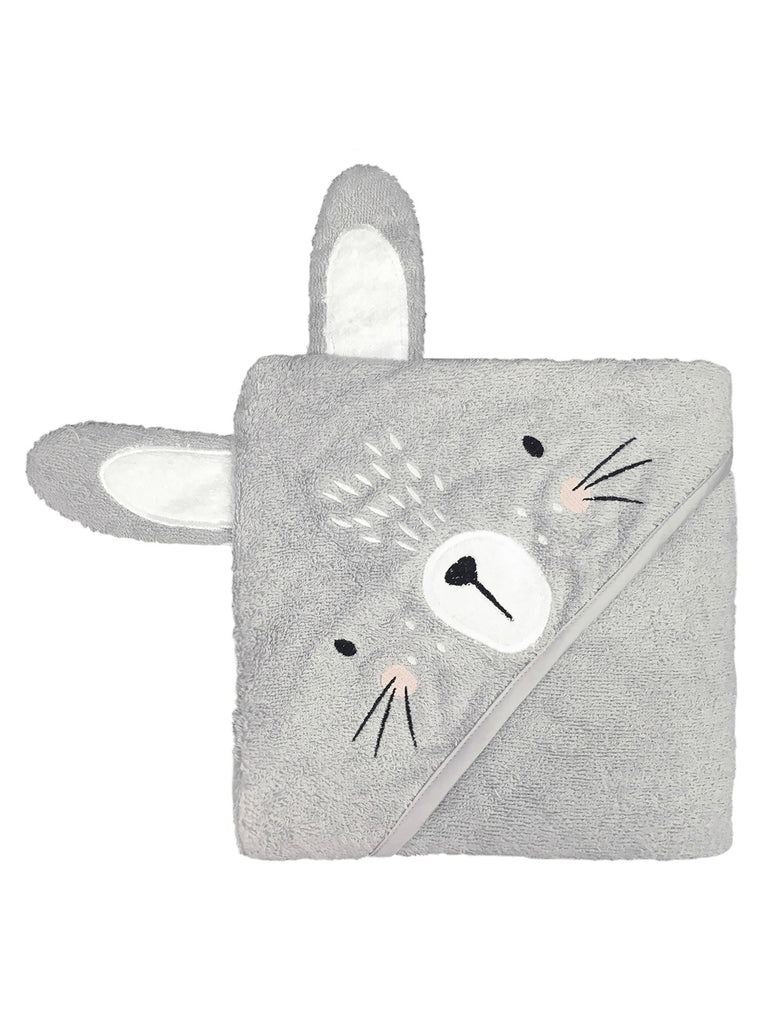 Grey Bunny Hooded Towel