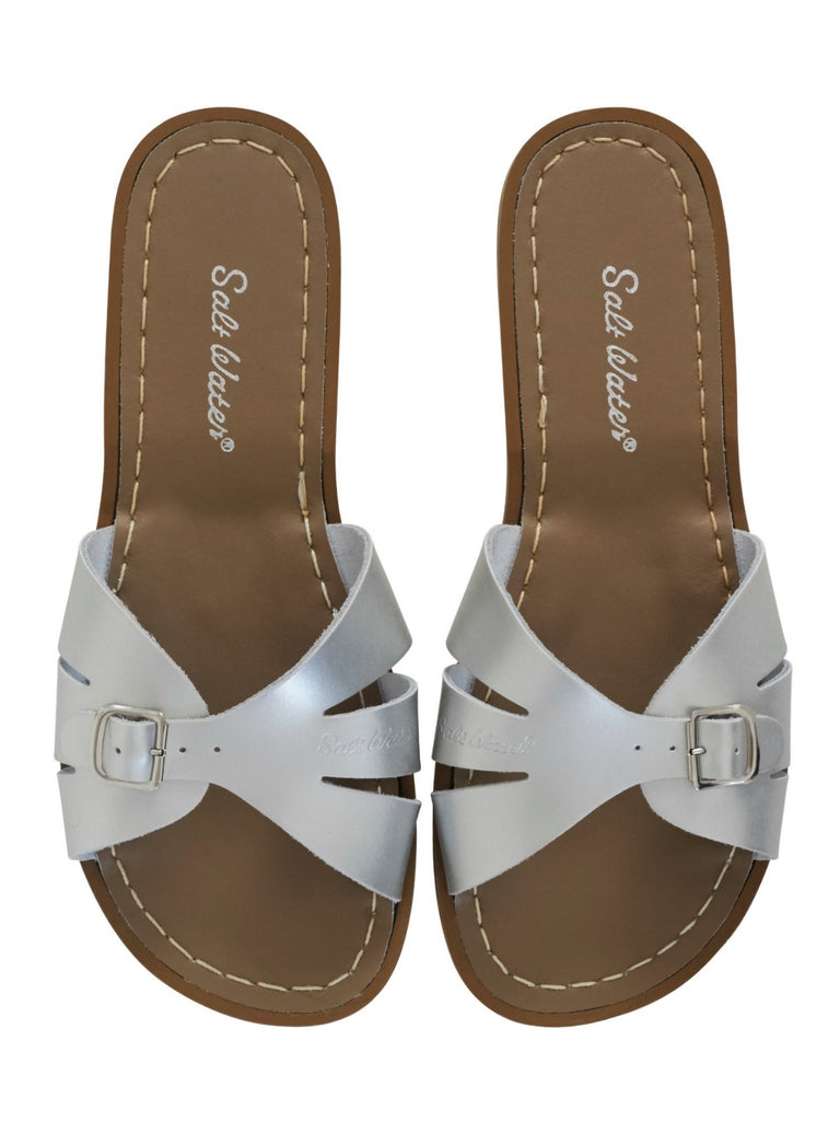 Salt Water Sandals Womens | Classic Slide Silver