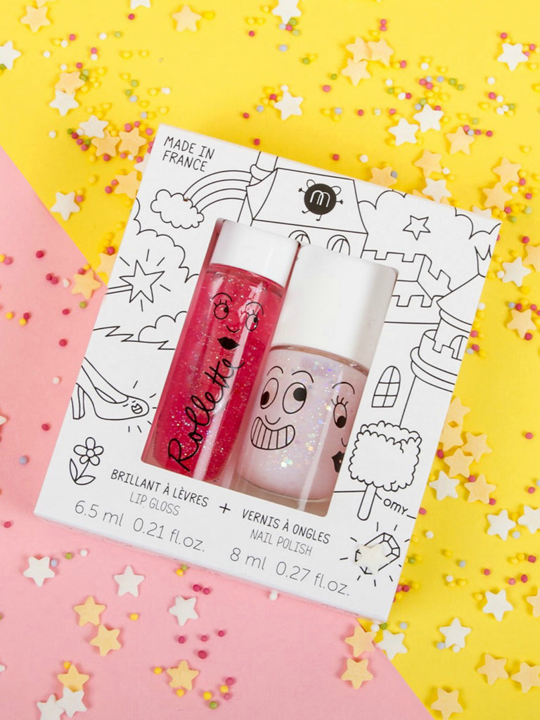 NailMatic Kids Lip Gloss & Nail Polish Gift Pack (2pcs)