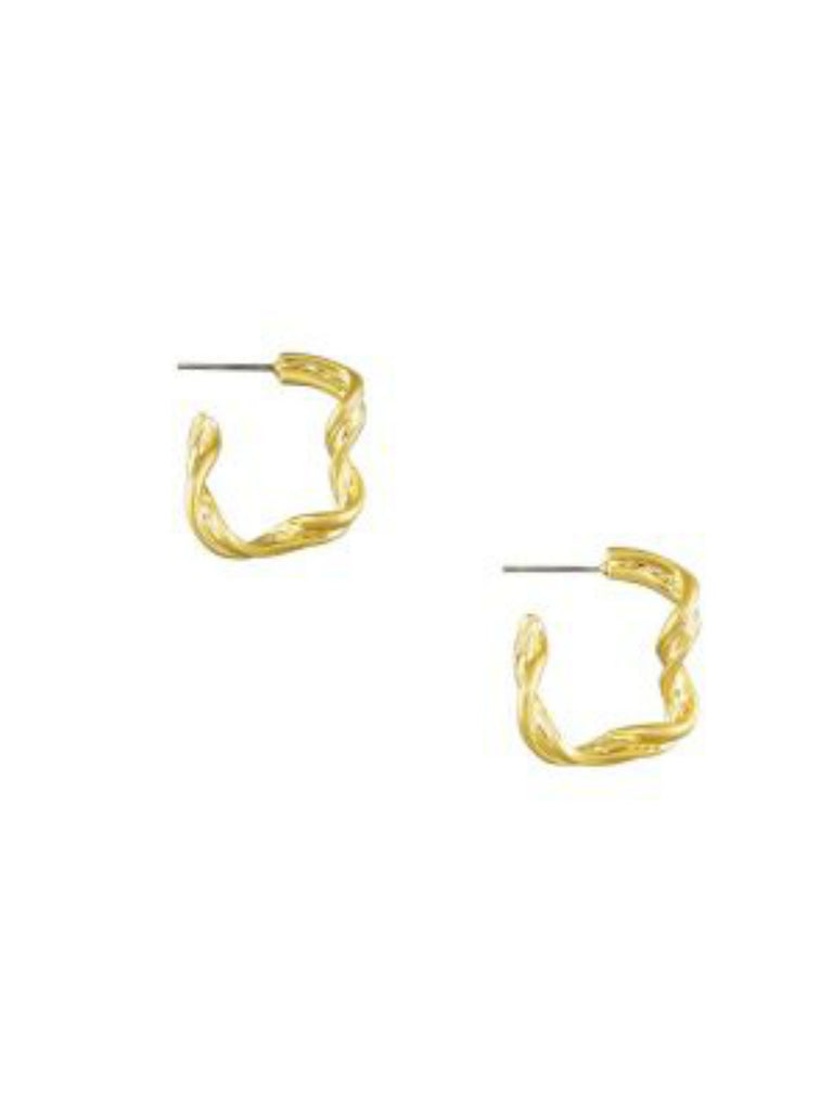 Drift Wood Hoops | Gold