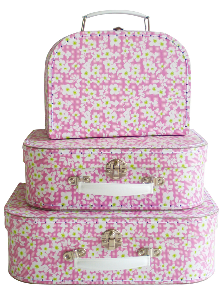 Alimrose Designs Kids Carry Case Set | Blossom Pink