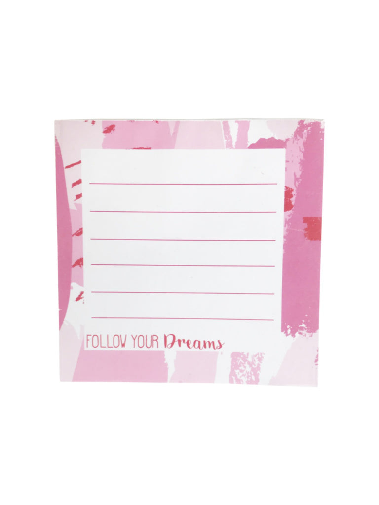 Note Pad | Follow Your Dreams