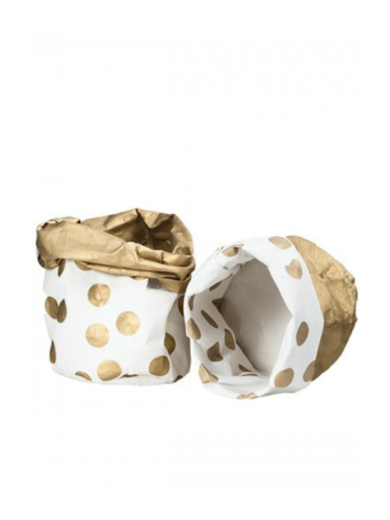Wash Paper Bag | Sml Gold Spot