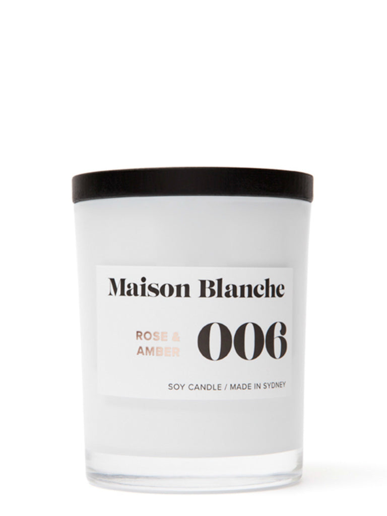Maison Blanch Medium Candle | 006 Rose & Amber