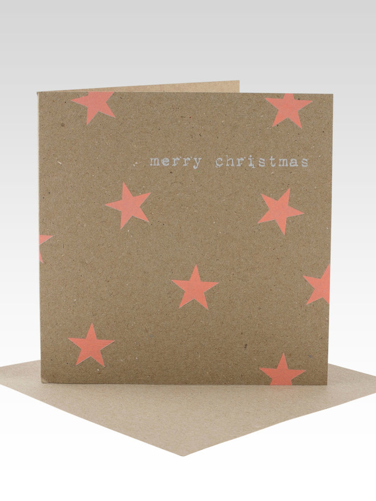 Peach Stars Christmas Card