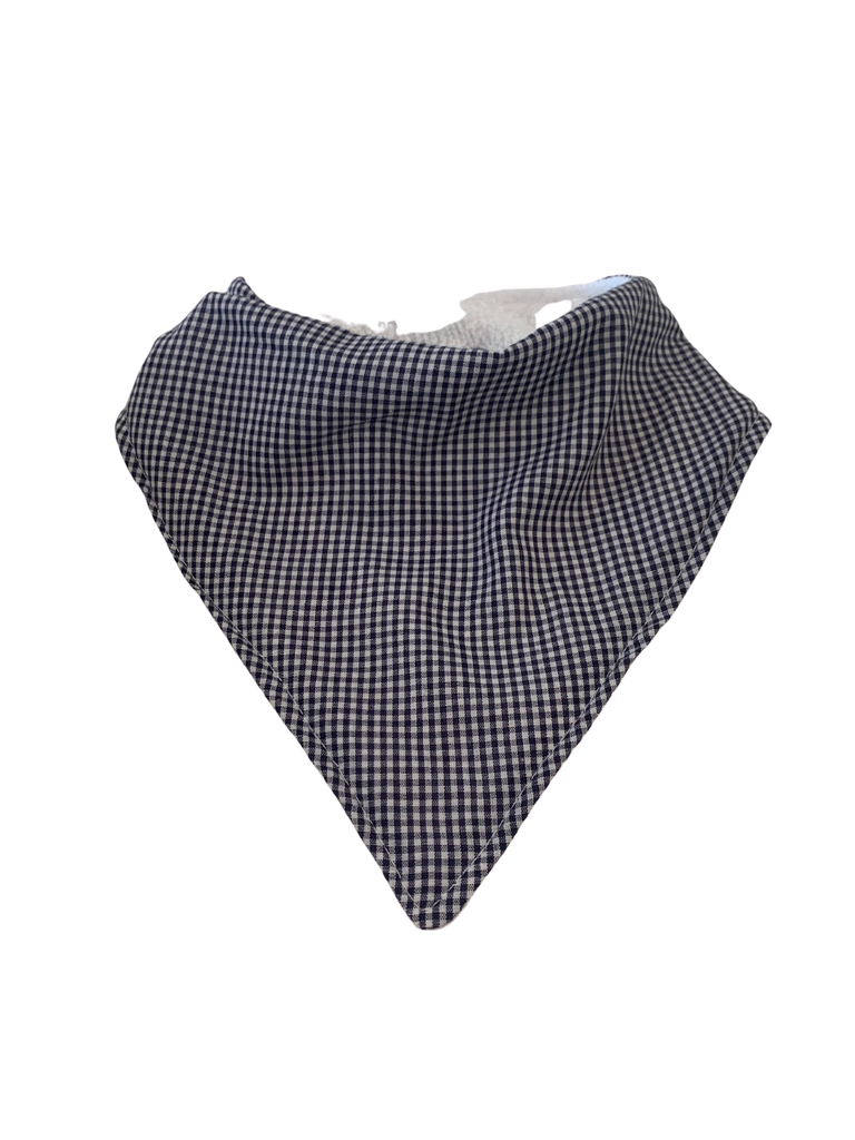 Bandana Bib | Small Navy Gingham