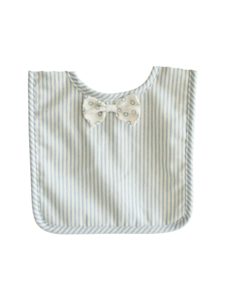 Bow Tie Bib Ticking Stripe