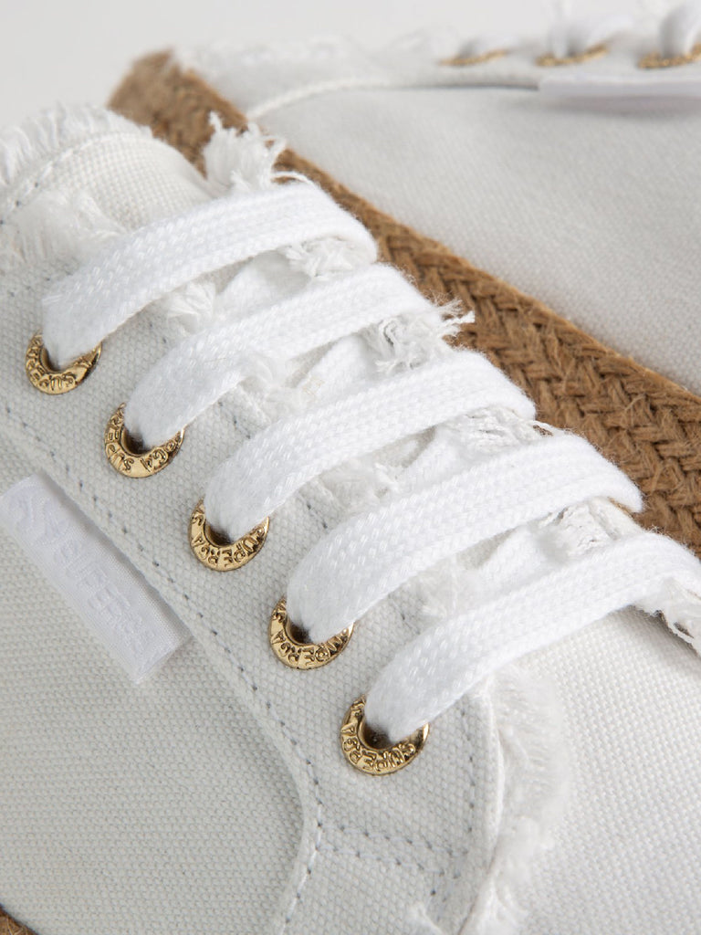 2750 Fringed Cotton Rope | White