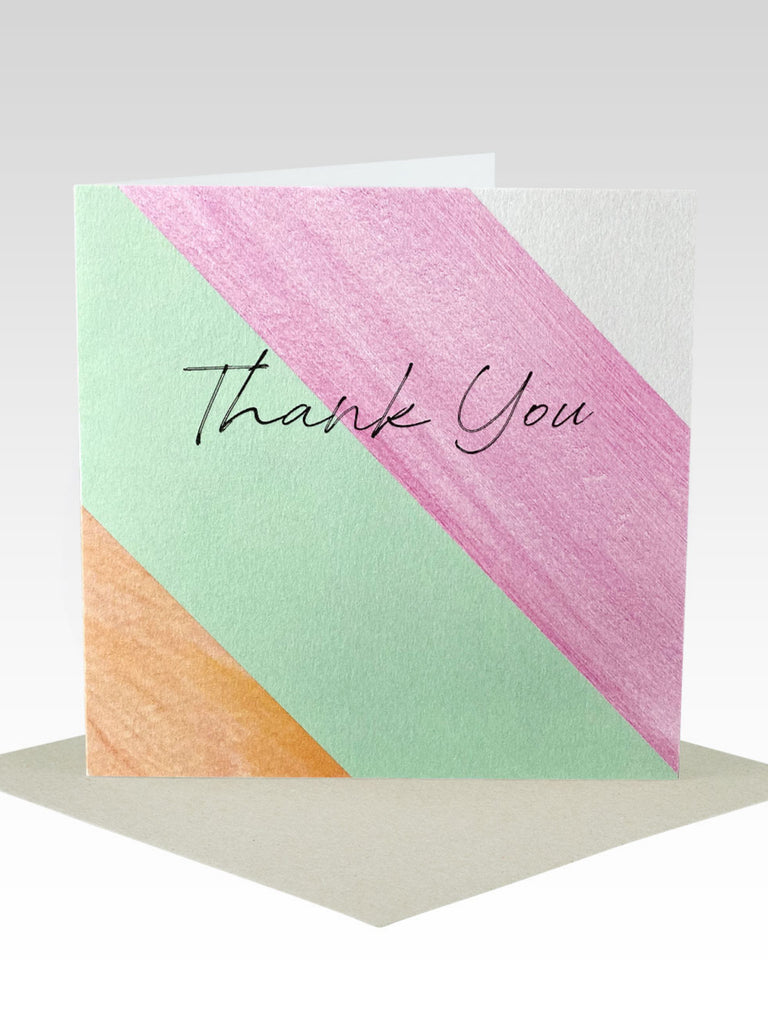 Rhicreative Thank You Stripe Card
