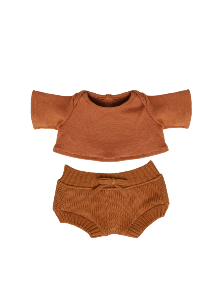 Olli Ella Dinkum Doll Snuggly Set | Toffee