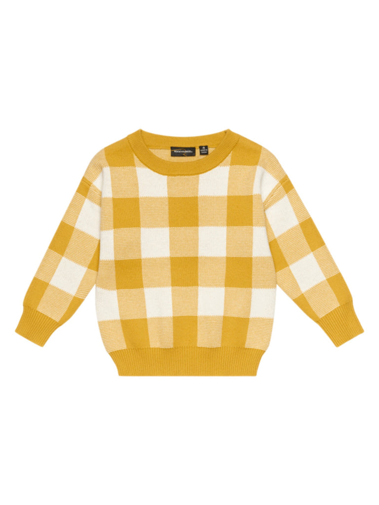 Rock Your Baby Mustard/White Knit Sweater