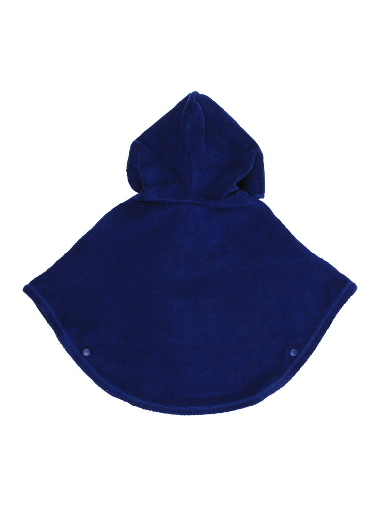 Hooded Poncho | Blue