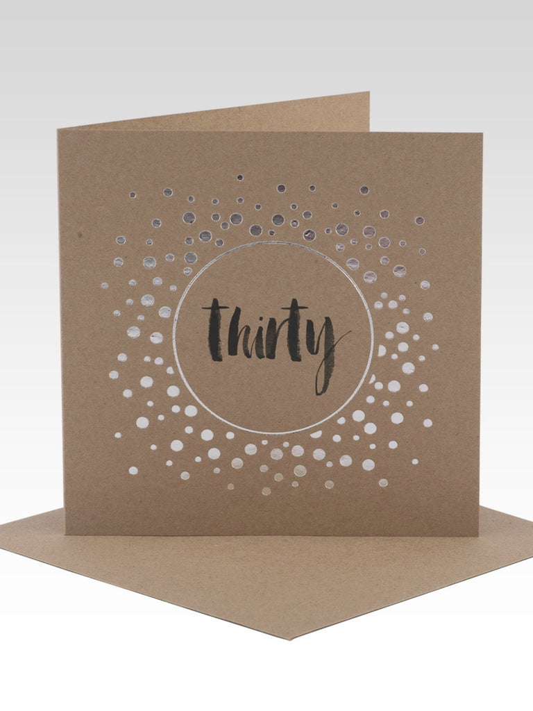 Rhicreative Thirtieth Birthday Card