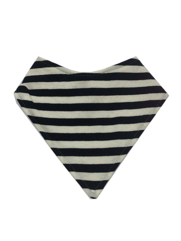 Bandana Bib | Navy & Cream Stripe