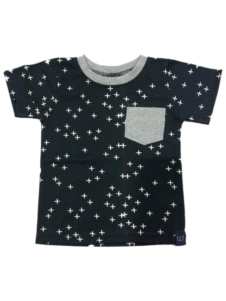 LLT Boys Tee | Dark Navy Crosses