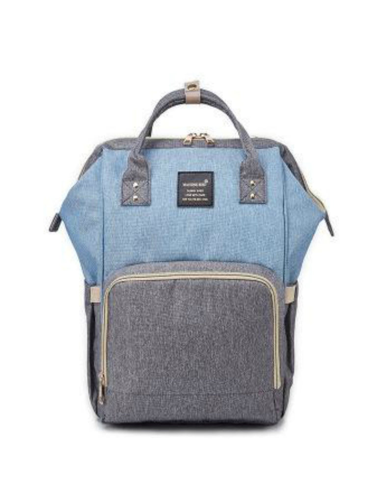 Backpack Nappy Bag | Grey & Blue
