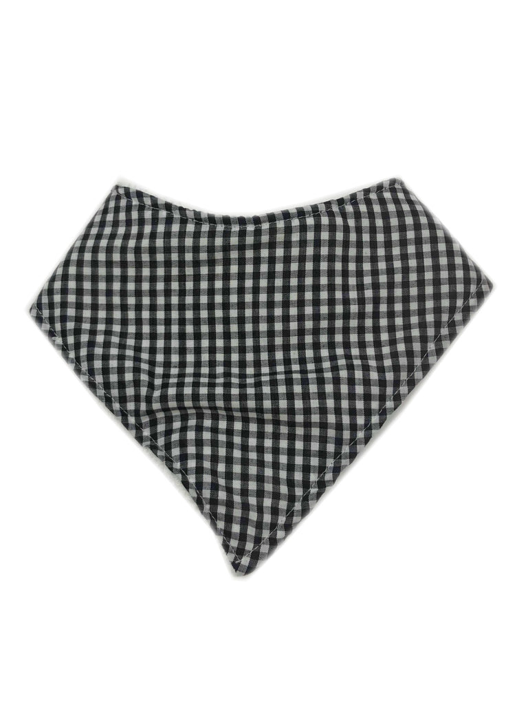 Bandana Bib | Black & White Gingham