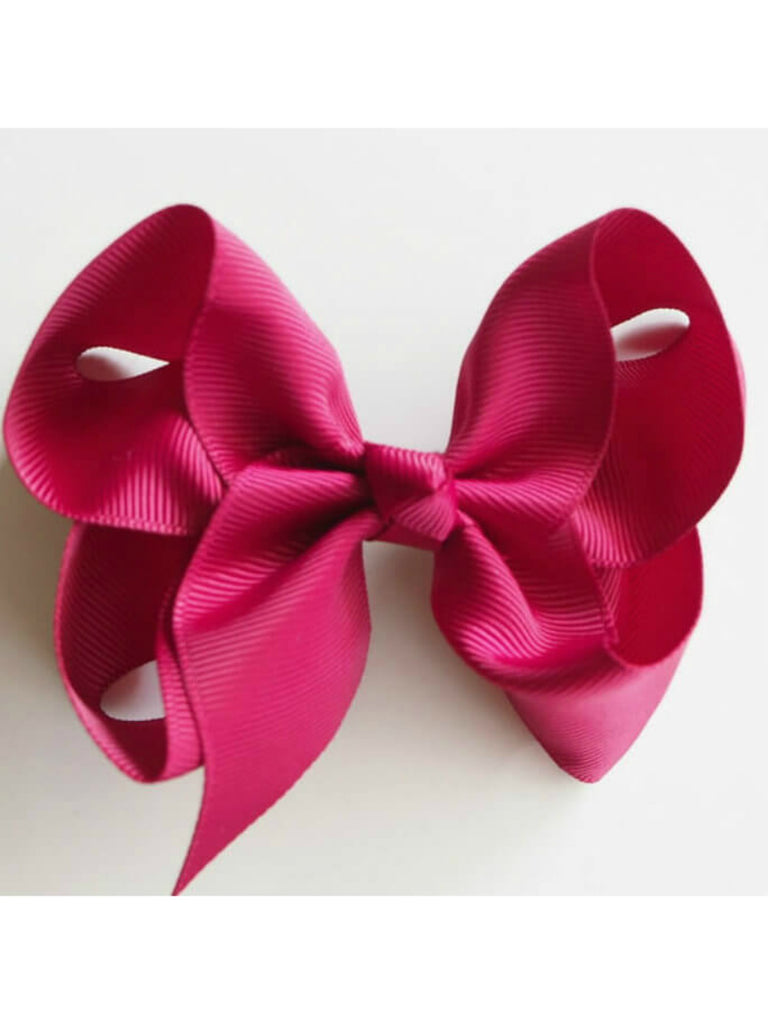 Snuggle Bow Clip | Burgundy