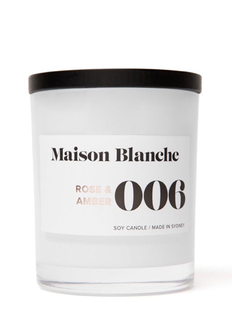 Maison Blanch Large Candle | 006 Rose & Amber