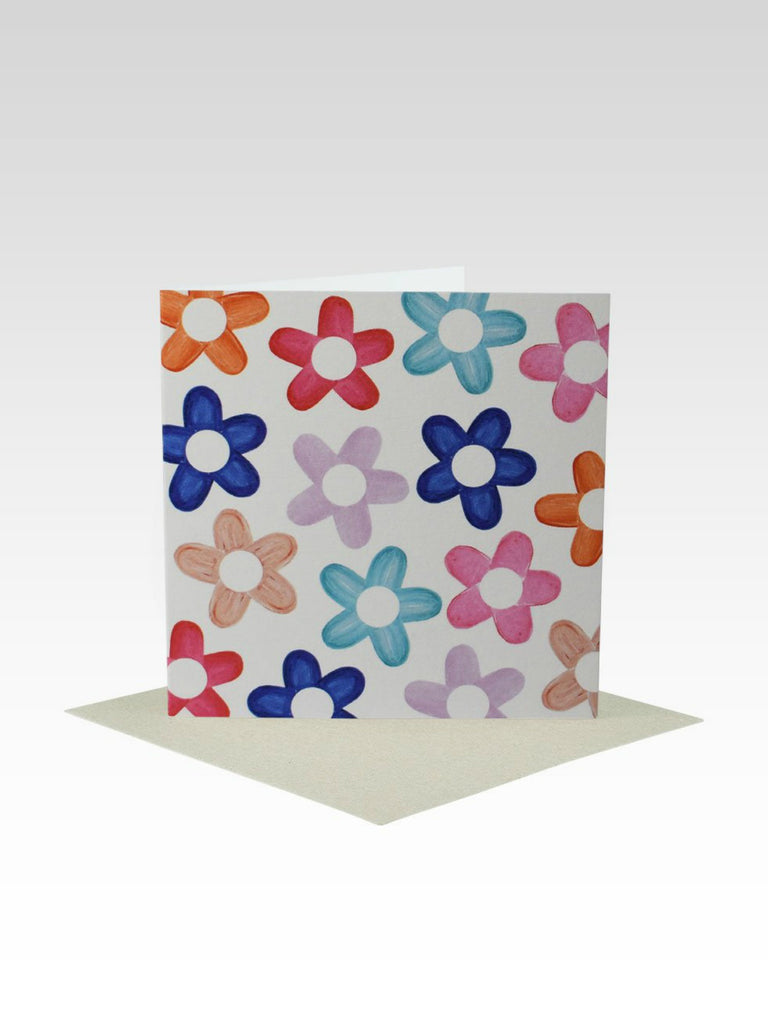 Rhicreative Coloured Flowers All Occasion Mini Card
