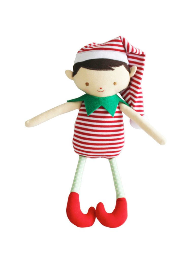 Cheeky Elf Boy Rattle Red