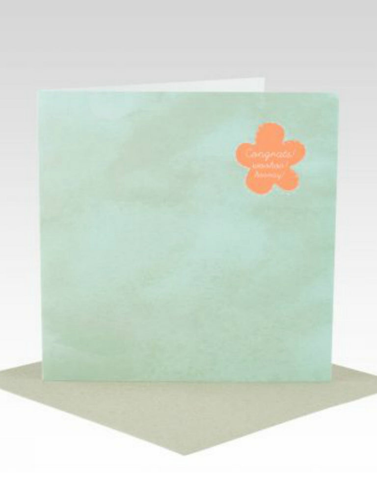 Fluoro Mint Watercolour All Occasion Card