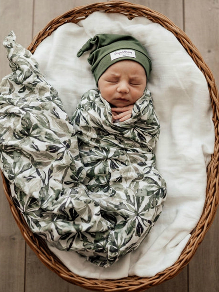 Snuggle Hunny Kids Organic Cotton Muslin Wrap | Evergreen