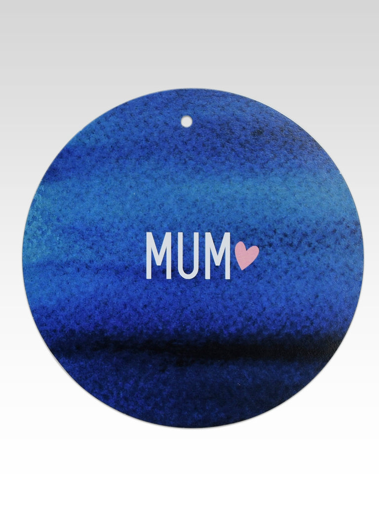 Navy Watercolour Mum Gift Tag