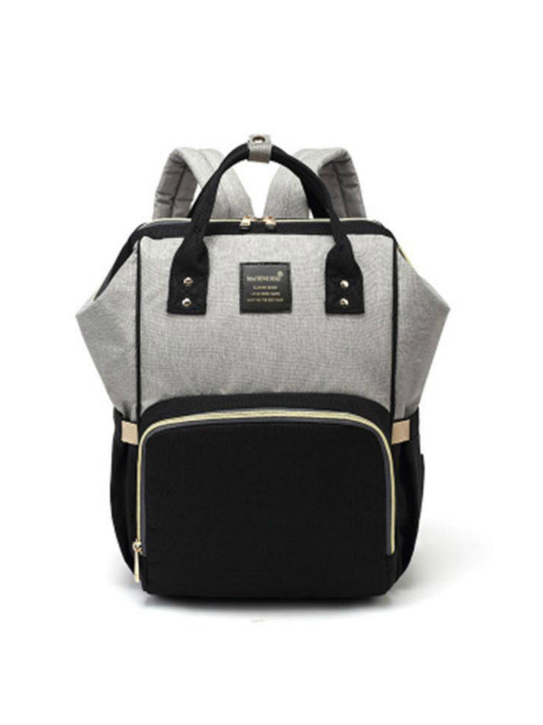 Backpack Nappy Bag | Grey & Black