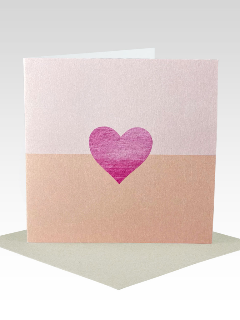 Rhicreative Two Tone Heart Card