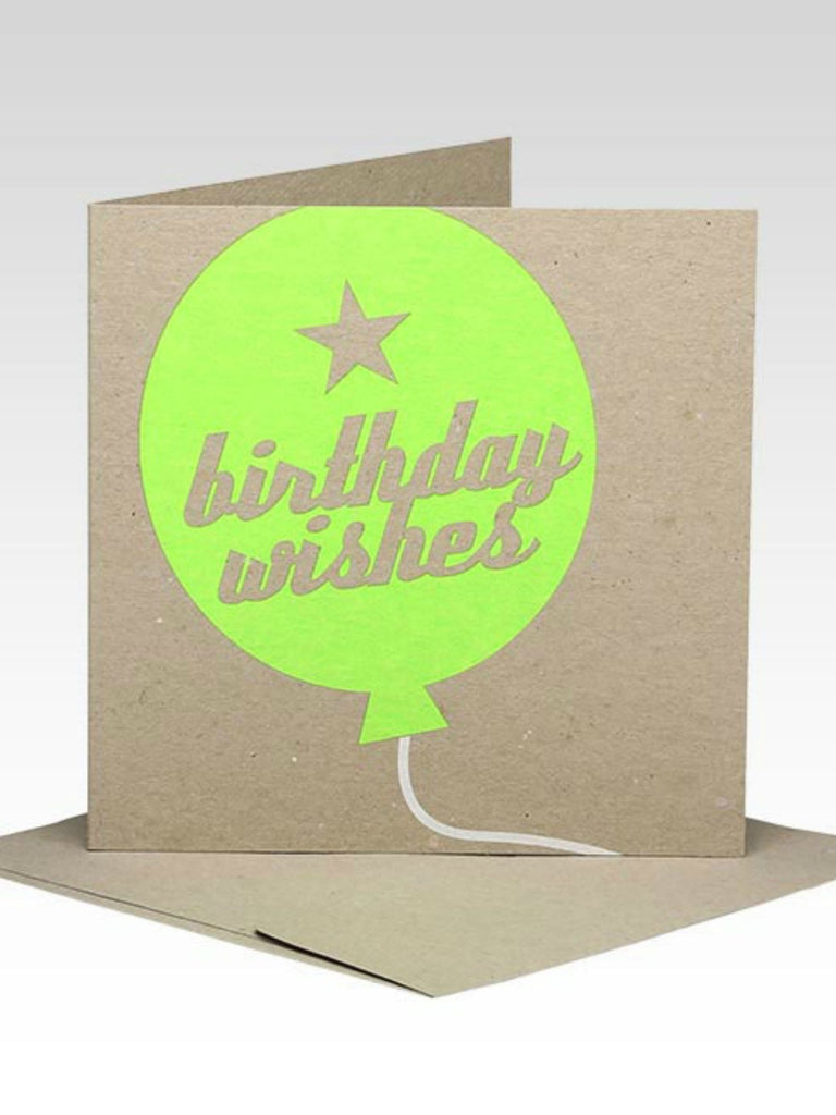 Rhicreative Fluoro Birthday Balloon