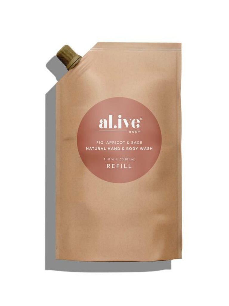 al.ive Fig, Apricot & Sage Hand & Body Wash Refill