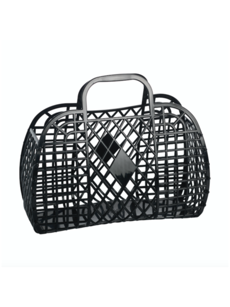 Sun Jellies Retro Basket | Black