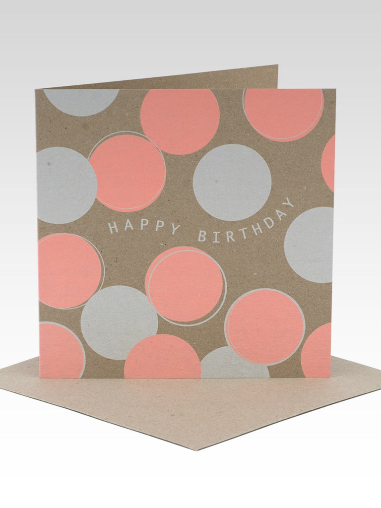 Rhicreative Peach Polkadots Birthday Card