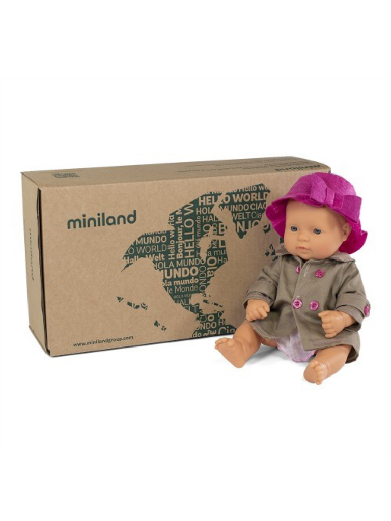 Miniland Doll Caucasian Girl and Outfit Boxed (32cm)