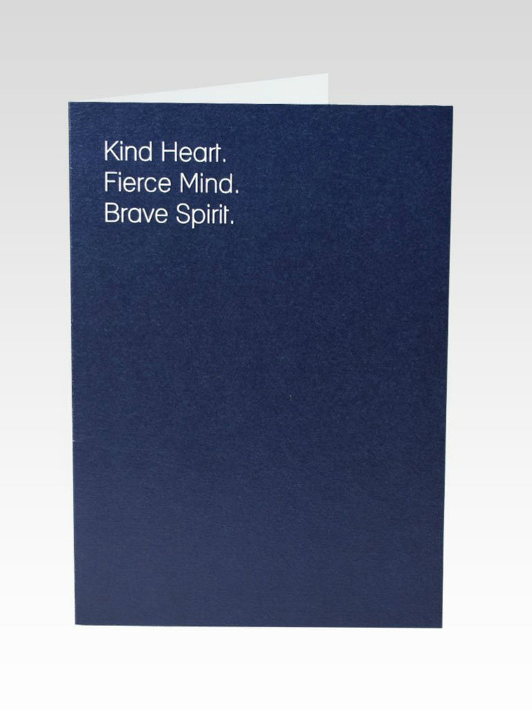 Kind, Fierce, Brave Positivity Card