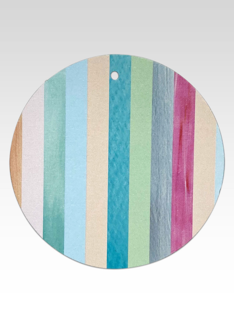 Rhicreative Rainbow Stripes Gift Tag