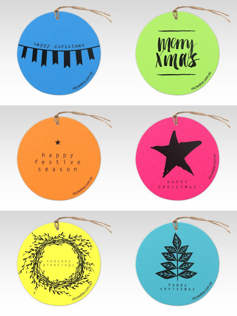 Gift Tag | Mixed Christmas Fluoro