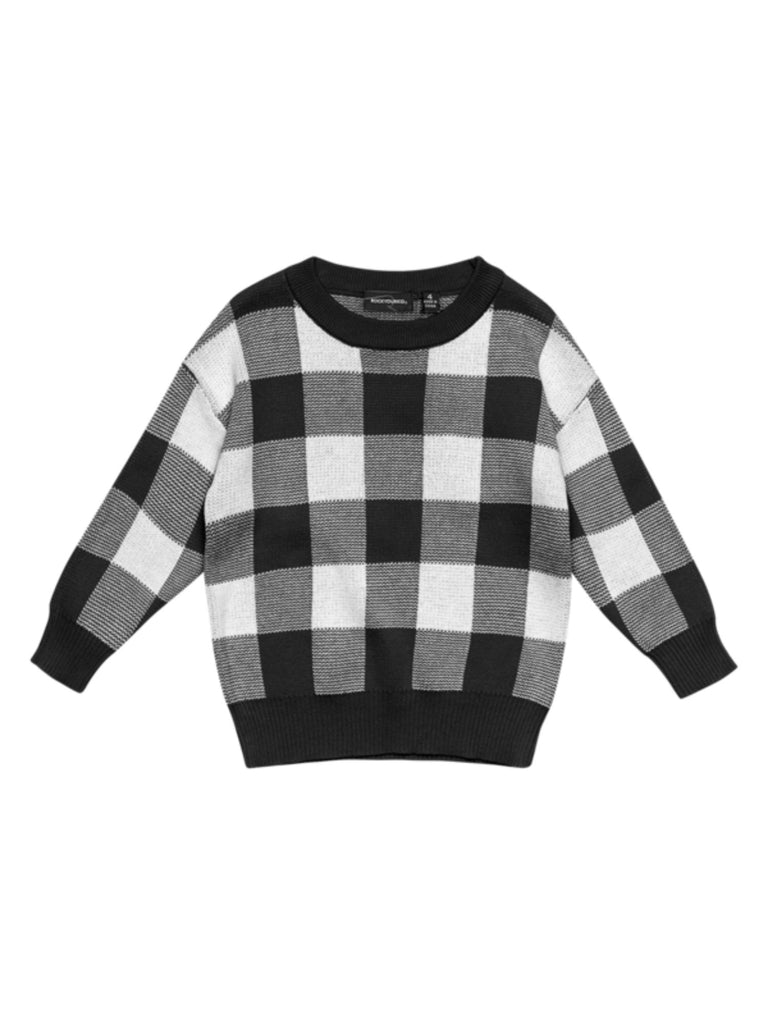 Rock Your Baby Black/White Knit Sweater