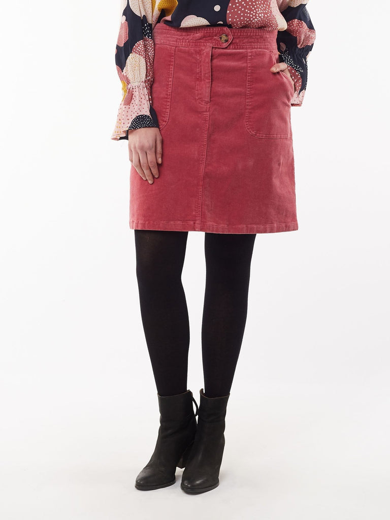 Ellie Cord Skirt | Deep Rose