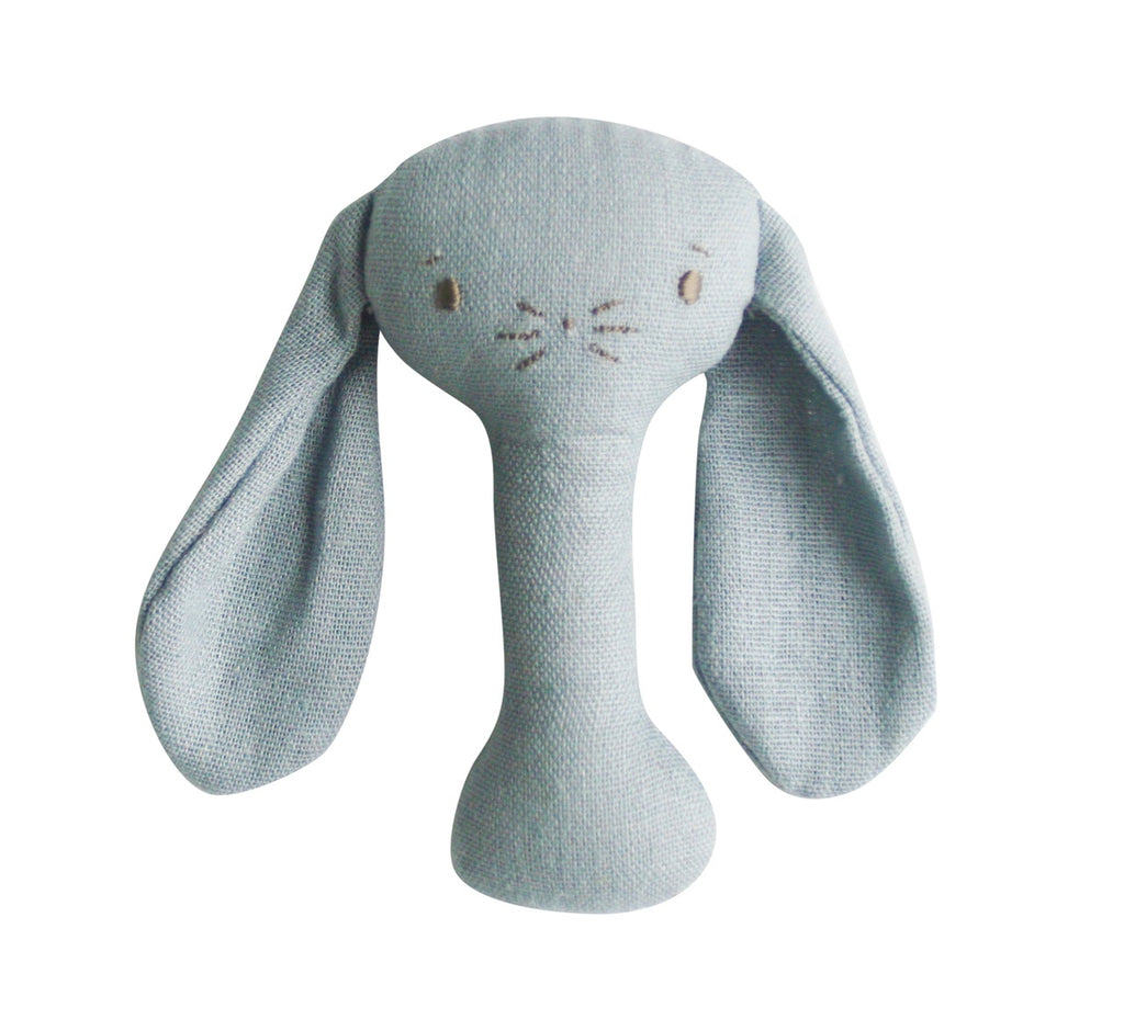 Bobby Bunny Stick Rattle | Chambray Linen