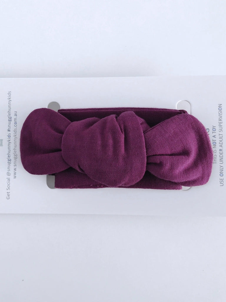 Snuggle Topknot Headband | Purple