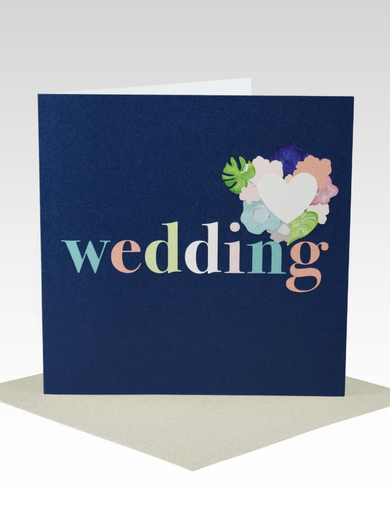 Rhicreative Bold Floral Wedding Card