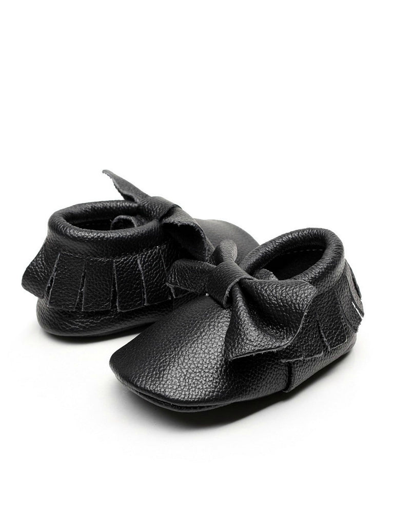 Bow Moccasins | Black