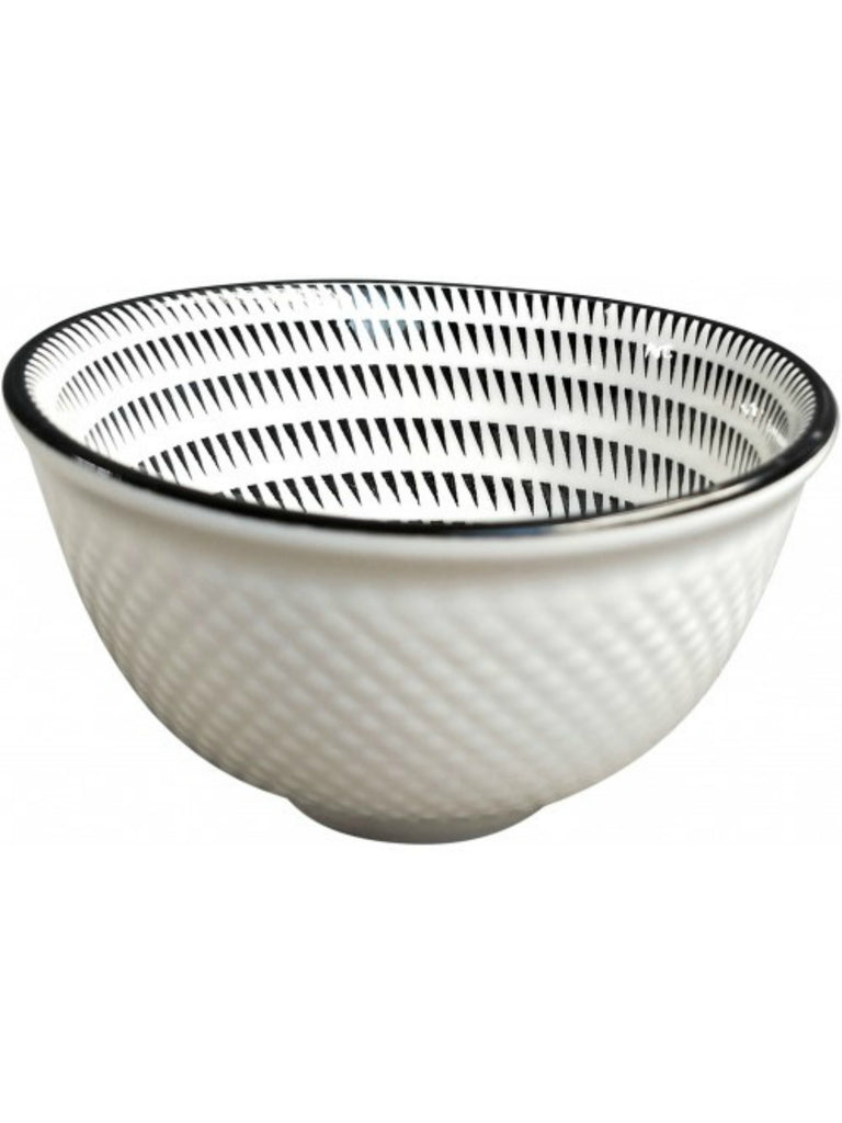 Monochrome Triangles Mini Bowl