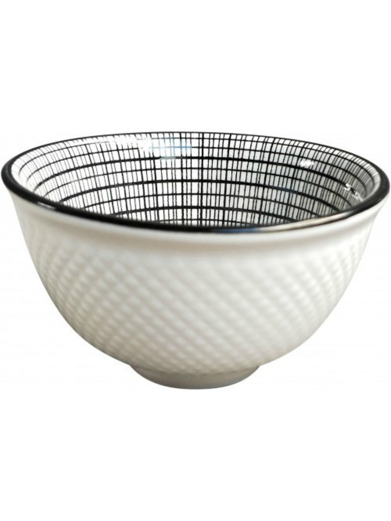Monochrome Cross Hatch Mini Bowl