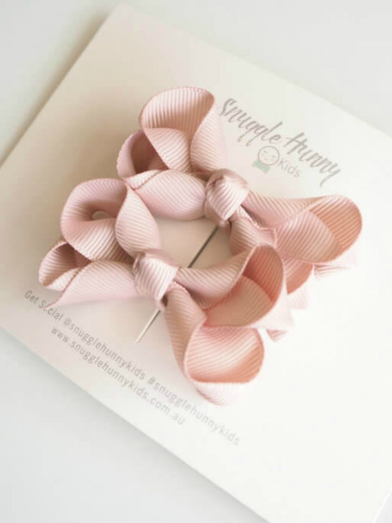 Snuggle Piggy Bow Pair | Nude
