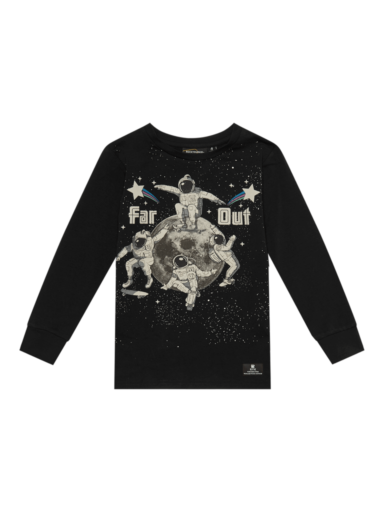 Rock Your Baby Far Out T-Shirt | Black