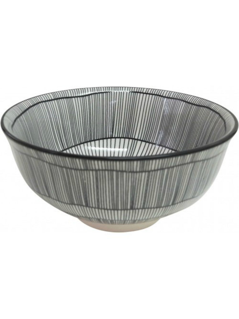 Monochrome Stripe Abstract Bowl